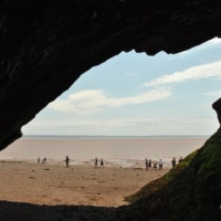 DSC_3894-1 peeking out of the cave Hopewell Rocks July 23 2011